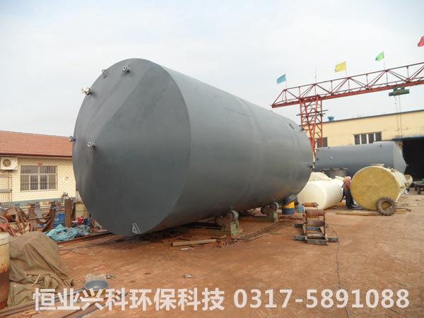 200吨4500直径罐体钢衬塑