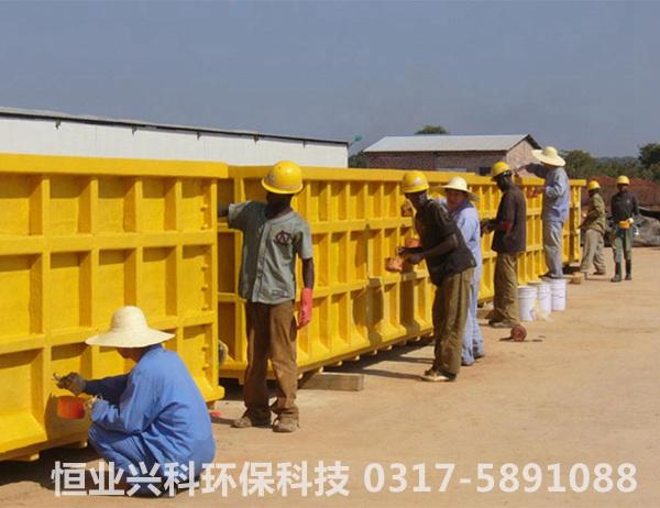 玻璃钢槽国外施工照片