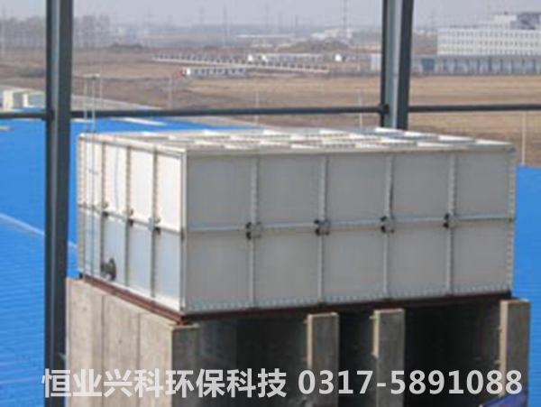 组合式水箱安装后