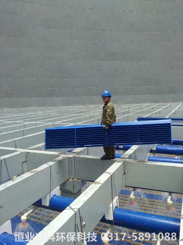 冷却塔内部收水器施工